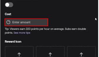 twitch enter reward amount